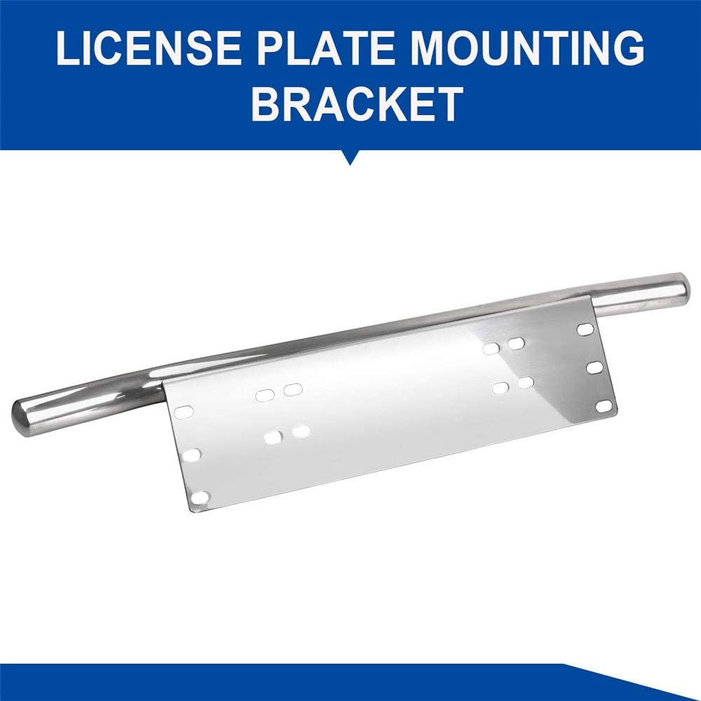 L-DiscountStore Underneath Mount On Bumper Front License Plate Mounting Bracket Relocator Aluminium Bull Bar Style Holder