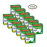PACK OF 12 - Polident Partials Antibacterial Denture Cleanser Effervescent Tablets 40 ct Box