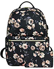 KROSER Laptop Backpack 15.6 Inch Computer Backpack Fashion School Backpack Laptop Bag Water-Repellent Nylon Casual Daypack with USB Charging Port for Travel/Business/College/Women/Men