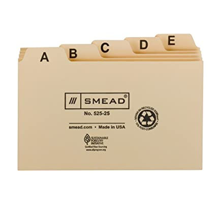 amazon com smead card guide plain 1 5 cut tab a z 5 w x 3 h