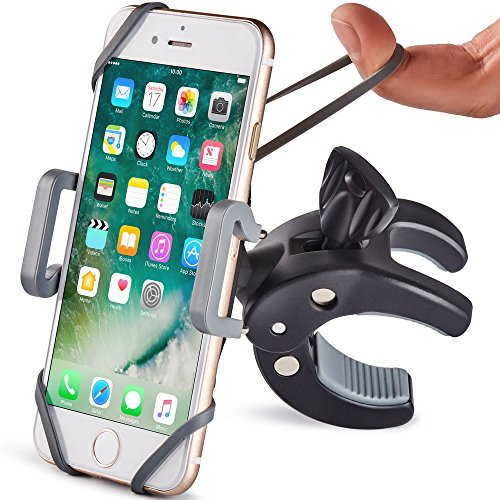 Metal Bike & Motorcycle Phone Mount - The Only Unbreakable Handlebar Holder for iPhone, Samsung or Any Other Smartphone | +100 to Safeness & Comfort (Best Mobile Phone For 100)