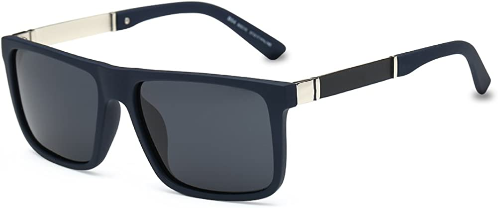 DONNA Trendy Oversized Square Aviator Polarized Sunglasses Style with Big Unbreakable Frame and Anti-glare Lens D54