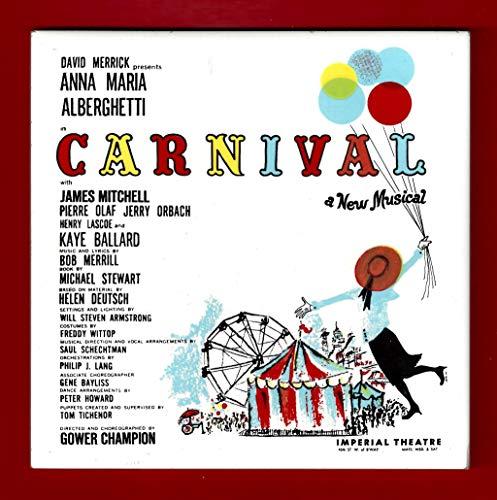 """Jerry Orbach""""CARNIVAL!"""" Kaye Ballard/Anna Maria Alberghetti 1961 Broadway Ceramic Tile"""