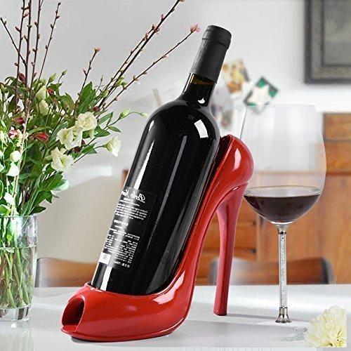 High Heel Shoe Wine Bottle Holder Stylish Conversation Wi...