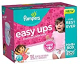 Pampers Easy Ups Training Underwear for Girls, Dora the Explorer (2T-3T, 152-Pack)