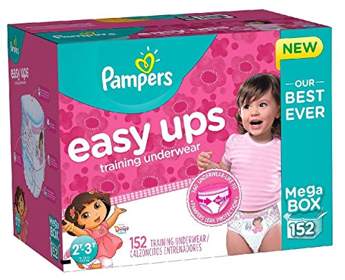 Pampers Easy Ups Training Underwear for Girls, Dora the Explorer (2T-3T, 152-Pack) by Pampers
