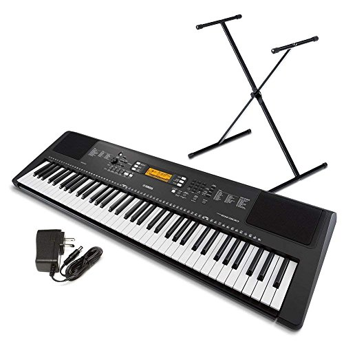 Yamaha PSR-EW300 SA 76-Key Portable Keyboard Bundle with Stand and Power Supply (Renewed)