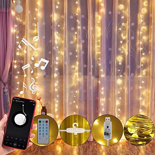 Anpro led Curtains Lights, USB Powered 310 LED