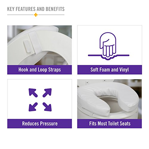 cushioned toilet seat covers. main image  Duro Med Toilet Seat Cushion Cushioned Padded