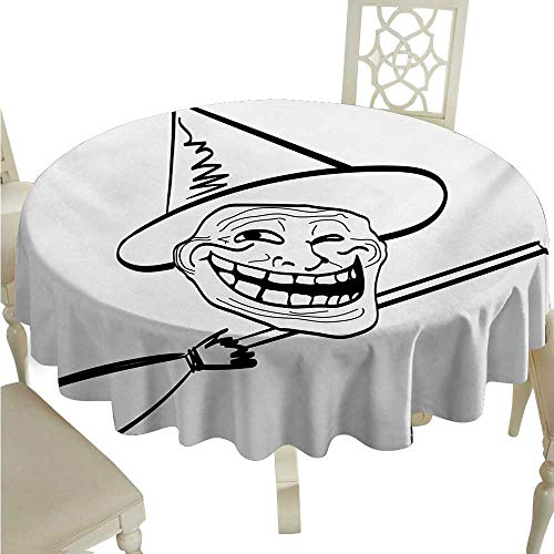 Humor Fabric Dust-Proof Table Cover Halloween Spirit Themed Witch Guy Meme Lol Joy Spooky Avatar Artful Image Print Runners,Gatsby Wedding,Glam Wedding Decor,Vintage Weddings D70