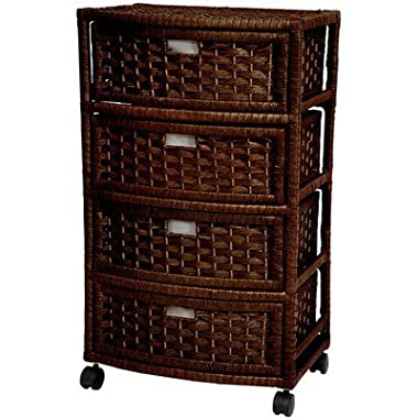 Oriental Furniture 29  Natural Fiber Chest of Drawers - Mocha