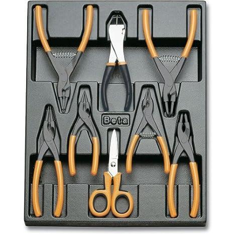 Bent Pattern,90° Pvc-Coated Handles 175 mm Beta Tools External Circlip Pliers