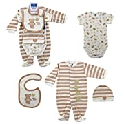 Hudson Baby 4-Piece Baby Bear Layette Set