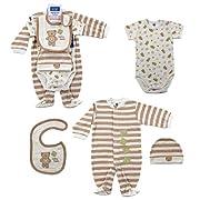Hudson Baby 4-Piece Baby Bear Layette Set
