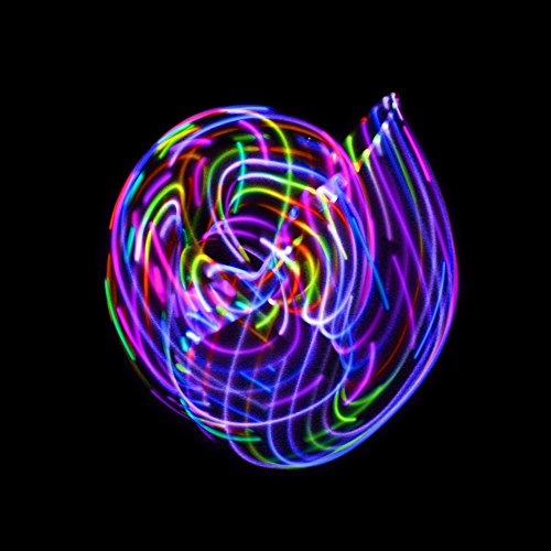 LED Hula Hoop Fully Rechargeable and Collapsable – 28 Color Strobing and Changing LED Lights – Multiple Light Up Hoola Hoops