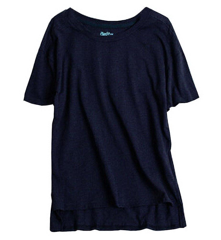 T-Shirt Women's T-Shirt Comfy Short Sleeve Lightweight Top Tee [Navy] BC-CLO1046580-IRENE00658