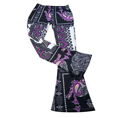 Soirée C7 Juleya Haute Tenues Cloche Bootcut Taille Partywear En Forme Marlene Imprimé Femmes De Floral Pantalons pnqHpwOZa