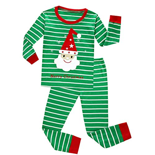 Skypiea&Co. Boys Pajamas Baseball 100% Cotton Christmas Toddler Pjs Sets for Kids Size 2-10 (Green, 6)]()