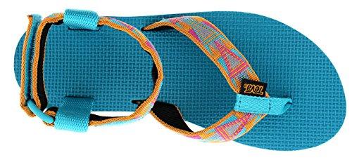 Teva Original Sandal Ws - Sandalias Deportivas de material sintético mujer rosa (883 mosaic orange)