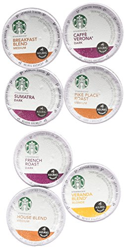 20 Bank on Variety (Pack of 2) 40 total, Starbucks Coffee Single Cups for Keurig Brewer Super Pack