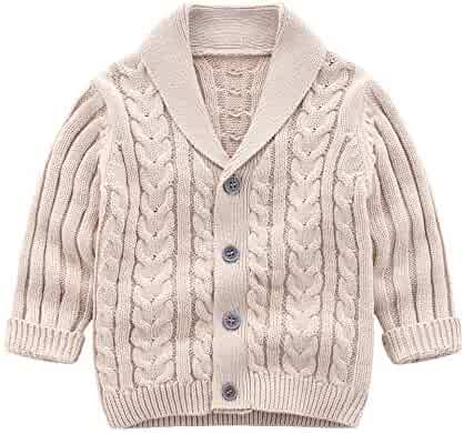 0166f0afb Infant Baby Boys Cardigan Crochet Sweater V-Neck,Toddler Knit Button up  Knitted Pattern