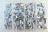 Mini Aluminum Oval Crimp Kit 100pcs each .8,1.0,1.1,&1.3mm 50lb-150lb