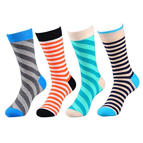 Deer Mum Men's Fashionable Colorful Soft Cotton Socks (5 Pack) (set 22(4-Pack)) (Fancy Dress Boots)
