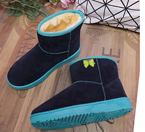 7660cm Des Épaississement Bas étudiants Bottes Couleur Chaussures De Sort Couleur Bonbons Coton Nsxz Arc Épaississement Bottes Femmes Bleu Bottes Neige dtHBqHU