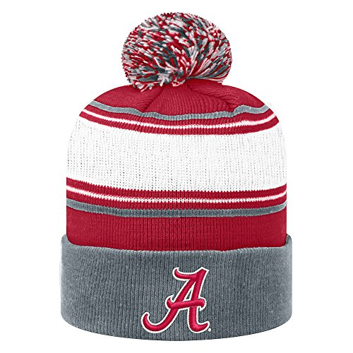 Top of the World Alabama Crimson Tide Men's Winter Knit Hat Icon, Charcoal, One Fit (Alabama Beanie Hat)