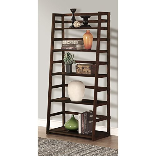 Ladder Shelf Bookcase, Pine Wood | Brown