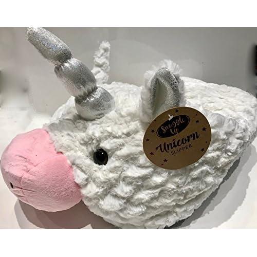 cheap Chausson géant fantaisie–Luxueux double Pantoufle–Supersoft Blanc Unicorn- Animal Pantoufles Pantoufle de fantaisie–Grande chauffe-pieds