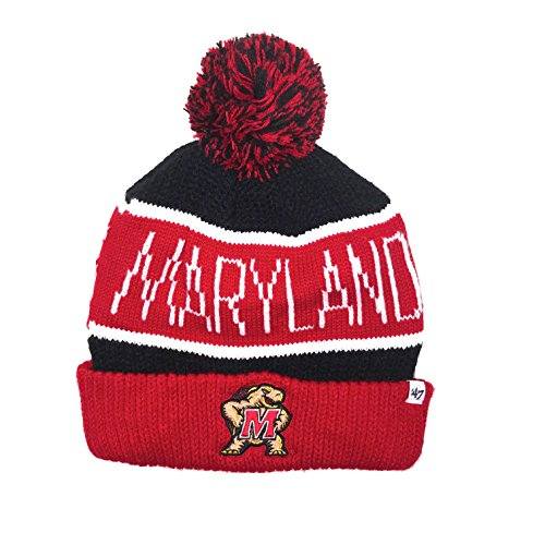 Maryland Terrapins 47 brand Cuffed Calgary Knit Winter Hat - Stores Hat Calgary