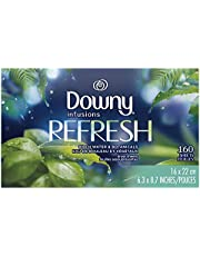 Downy Infusions Fabric Softener Dryer Sheets, Bliss, Sparkling amber
