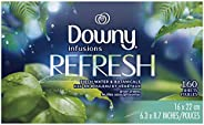 Downy Infusions Fabric Softener Dryer Sheets, Refresh, Birch Water & Botanicals 160 c