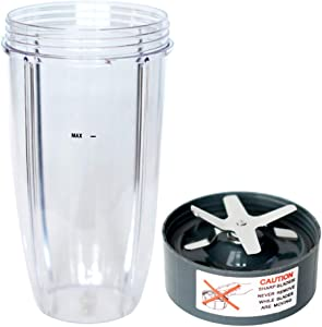 32oz Cup and Extractor Blade Replacement for Nutribullet Blender 32oz Cup and Blade Portable Highspeed Blender Food Processor Nutri Blender 600W 900W