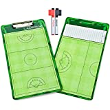 GoSports Coaches Boards - 2 Sided Premium Dry Erase Clipboards - Choose from Baseball, Basketball, Football, Soccer, Hockey, Lacrosse, or Volleyball