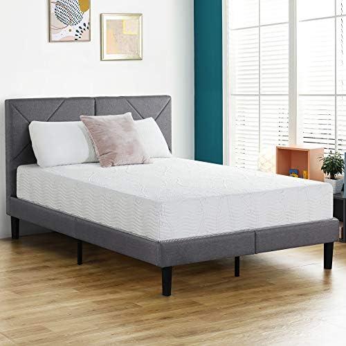 Olee Sleep 10 inch Omega Hybrid Gel Infused Memory Foam and Pocket Spring Mattress (Full),10SM02F,White