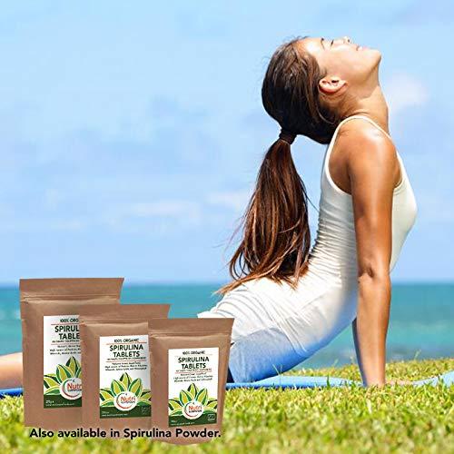 Espirulina Ecológica Comprimidos 1000 x 500mg. Alga Pura Tabletas ricas en Clorofila y proteína vegana (500g)