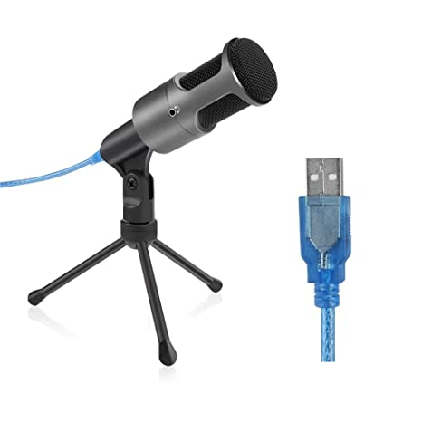 Archeer USB grabación de condensador micrófono para ordenador portátil PC, Home Studio USB micrófono con