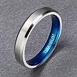 TIGRADE Titanium Rings 4MM 6MM 8MM 10MM Wedding