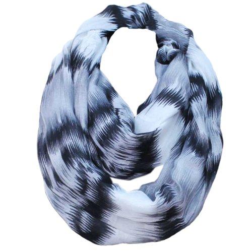 KMystic Mixed Color Infinity Loop Scarf (Black)