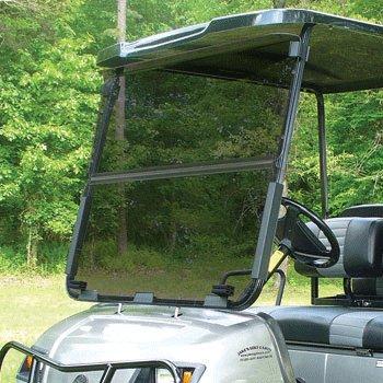 (Yamaha G22 Tinted Fold Down Impact Resistant Windshield for Yamaha G22 Golf Cart)