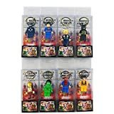 Keychains Keyring SuperHeroes Minifigures figures Package PVC box