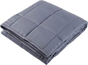 vctops Cooling Weighted Blanket for Kids, 36x48 inches 5lbs,100% Natural Bamboo Viscose Heavy Blanket with Glass Beads Dark Grey