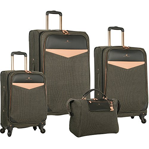 Vince Camuto Sharine 4 Piece Luggage Set, Black/White by Vince Camuto