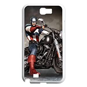 C-EUR Diy Phone Case Captain America Pattern Hard Case For Samsung Galaxy Note 2 N7100