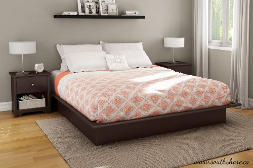 Step One Collection King Platform Bed with Moldings