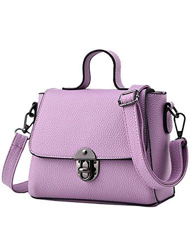 Bags Bag PU Shoulder Bag purple Pink Hand Cross Light Bags Body Women's Handle qzUdwIU