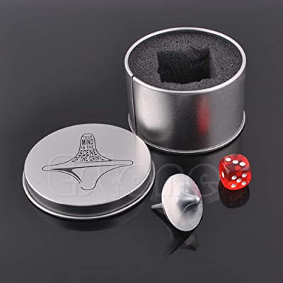 TeemorShop Inception Totem Zinc Alloy Silver Spinning Top Accurate Replica Dice& Gift Box: Home & Kitchen