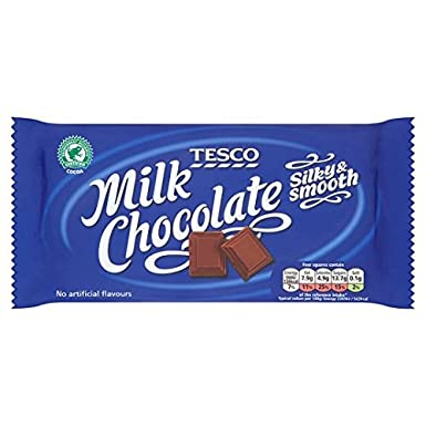 Tesco Rainforest Alliance Milk Chocolate Bar 150g Amazonco